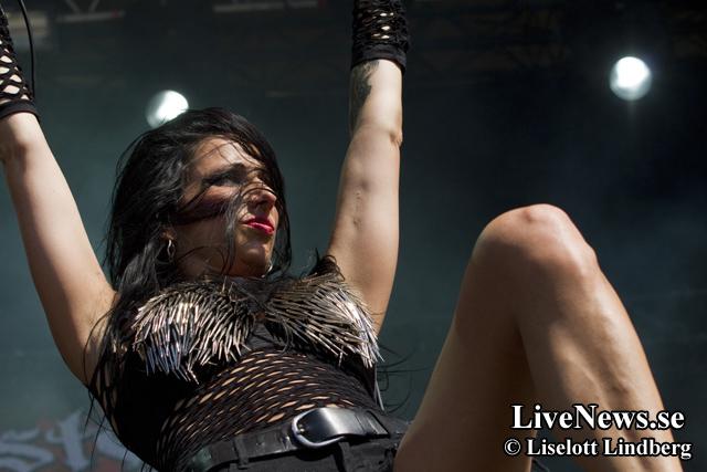 Sister Sin på Väsby Rock Festival