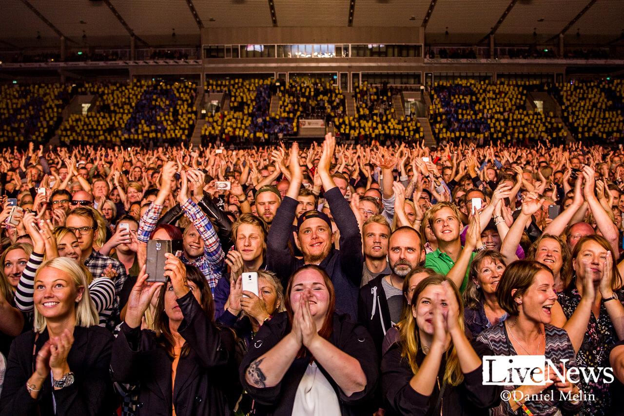 Lars Winnerbäck på Linköping Arena. Foto: Daniel Melin