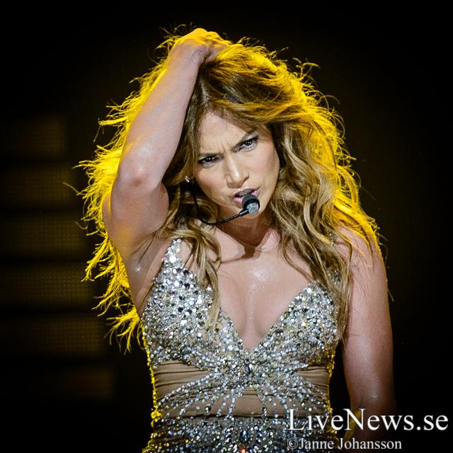 Jennifer Lopez på Globen