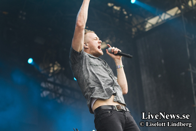 Imagine Dragons på Hultsfred (Stockholm) 2013