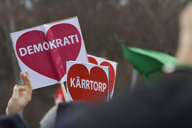 Demonstration mot rasism i Kärrtorp